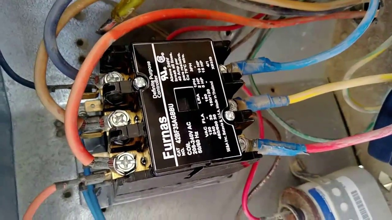 wiring a time clock and contactor kitchenaid trash compactor parts diagram 24 volt vs 240 v coil air conditioner replacement bangla ...