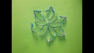 ПОДЕЛКИ НА ЕЛКУ СНЕЖИНКА из втулки Snowflake from Toilet paper Rolls