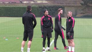 Arsenal train ahead of match with BATE Borisov
