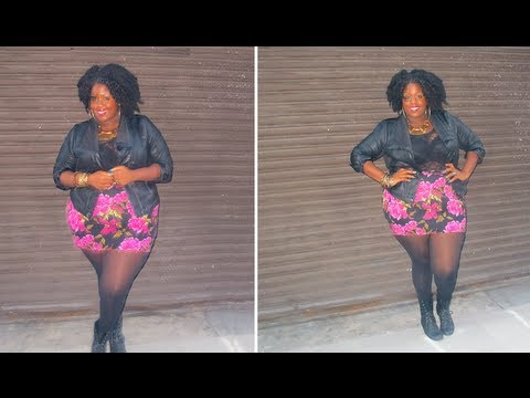 Fall Look #2: Lace, Floral, & Leather!