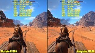 battlefield 1 kaby lake 7700k vs skylake 6700k gtx 1080 sli frame rate comparison