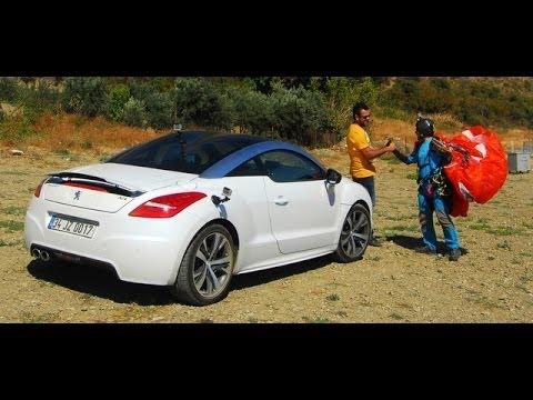 Peugeot Rcz Vs Yamaç Paraşütü Hangisi Hızlı Youtube