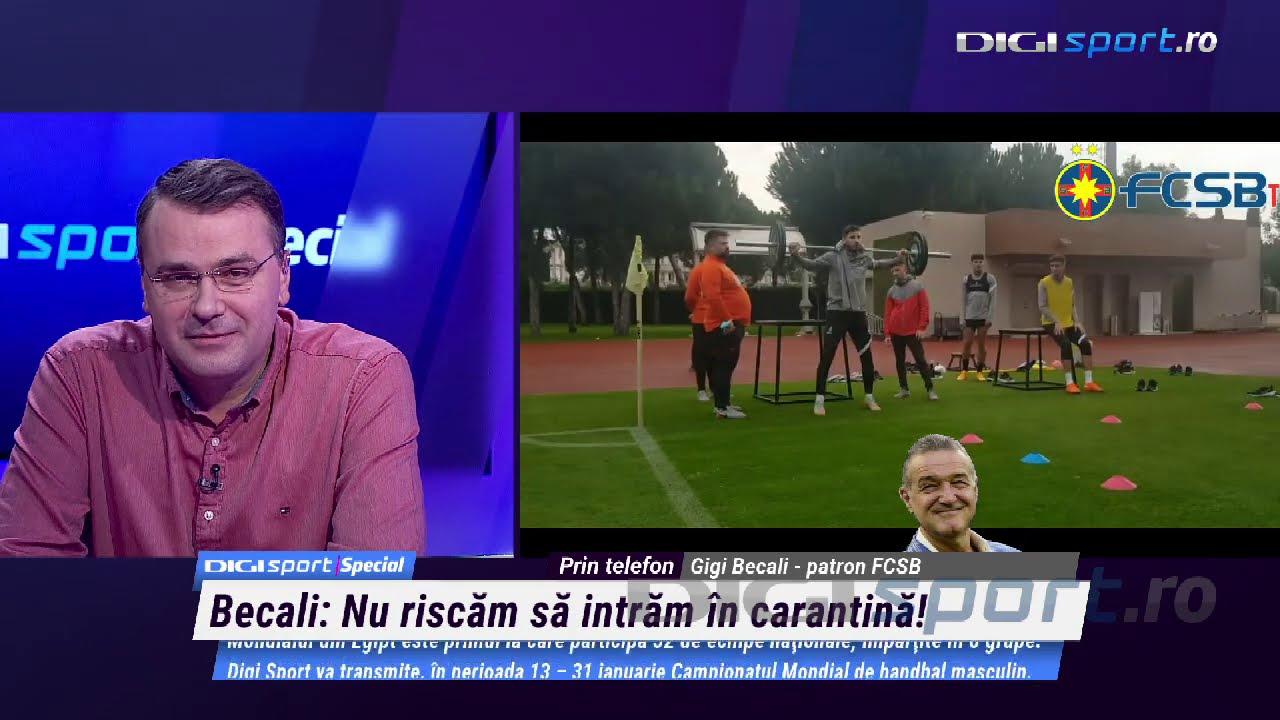 Gigi Becali s-a enervat și a intrat în direct. Transferurile de la FCSB și cantonamentul problematic