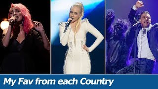 Eurovision 2010-2018 | My Favourite Song From Each Country