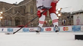 Alexei Yashin Hockey Master Class on Red Square