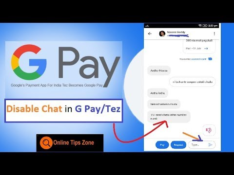 How To Disable Chat In Google Pay / Tez