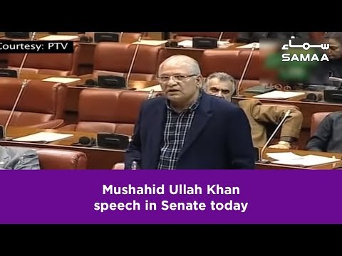 Mushahid Ullah Khan speech in Senate today | 25 February 2019