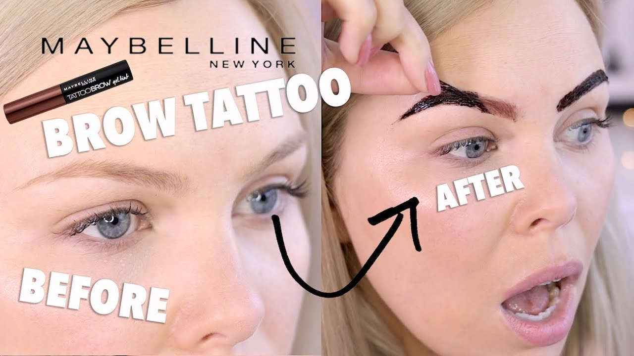 Maybelline Peel Off Brow Tattoo Does It Work Youtube