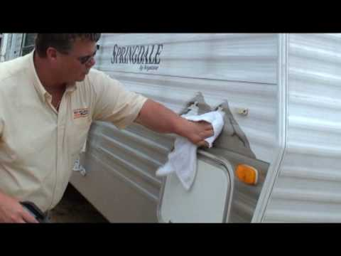 Remove Black Streaks From Rv Camper Exterior And Vinyl