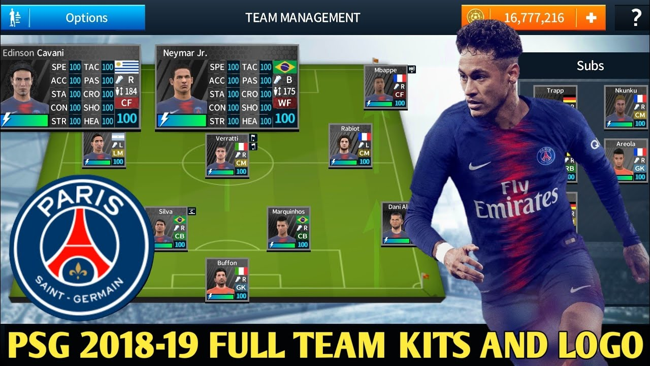 How To Create PSG Team Kits & Logo In Dream League Soccer 2018 All Version