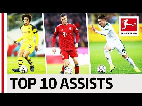 Top 10 Assists 2018/19 So Far - The Best Plays From Lewandowski, Witsel & Co.