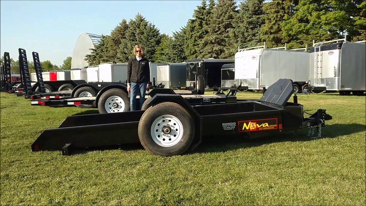 Nova By Midsota 7k Equipment Trailer W Rotating 7000lb