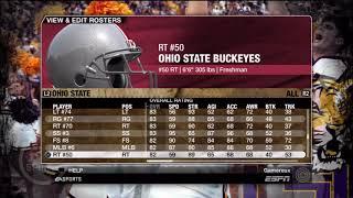 NCAA Football 09 Ohio State Buckeyes Overall Player Ratings