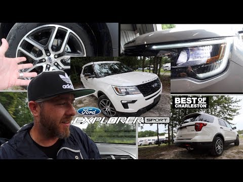 🔵 NEW 2018 FORD EXPLORER SPORT 🏁 Test Driving a Twin Turbo SUV! Plus Full Review & LED Lighting