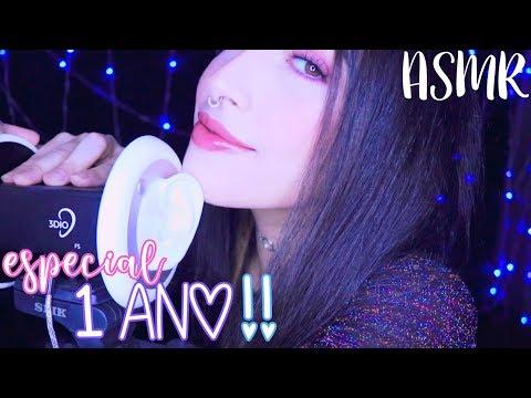 ASMR ♡ especial 1 ano de canal!! 🎉✨ (3dio)
