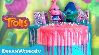 Branch and Poppy Trolls Cake | TROLLS