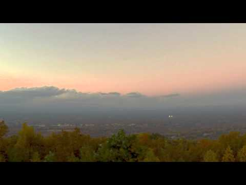 Valdese from Mineral Springs Mountain - Time Lapse