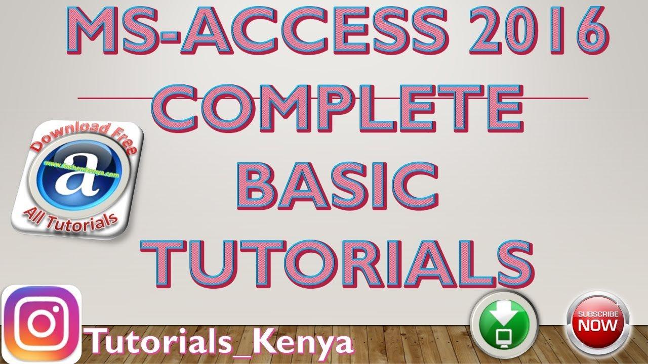 2007 tutorial in telugu ms access pdf