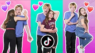 RECREATING COUPLES Tik Toks With My CRUSH Challenge **RELATIONSHIP GOALS** ❤️|Lev Cameron