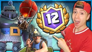 12 WINS! NEW Mega Knight-Balloon-Miner Deck IS TOO GOOD! | Clash Royale