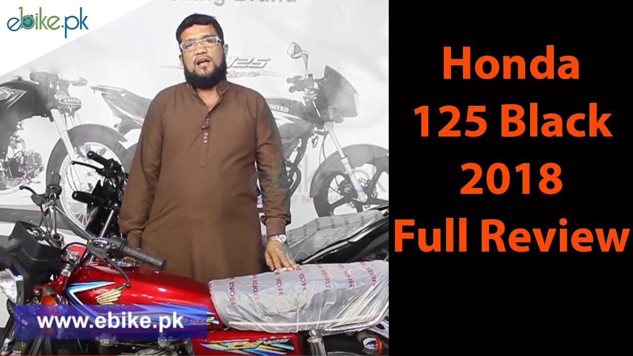 hight resolution of honda 125 black 2018 full review