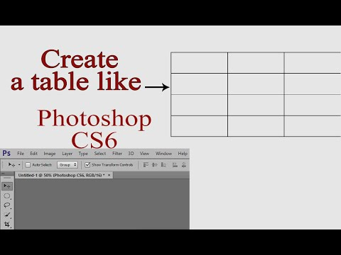How To Create A Table In Photoshop CS6   Photoshop Tips