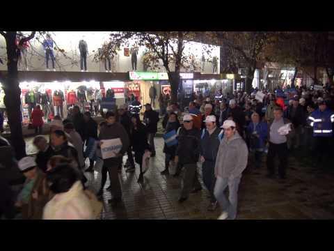 Sustinatorii lui Iohannis in Pitesti   mars organizat de ACL Arges