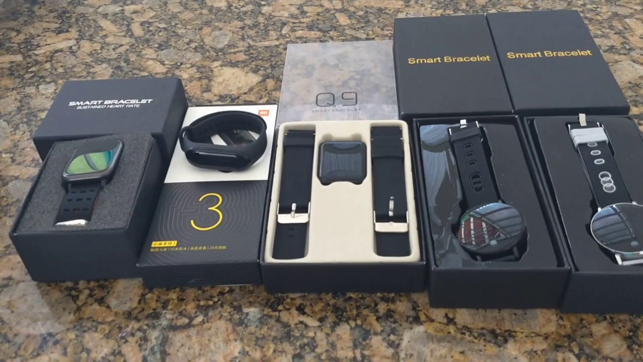 Diferença entre smartwatch bracelete A6 x mi ban3 x Q9 x y6 x Q7