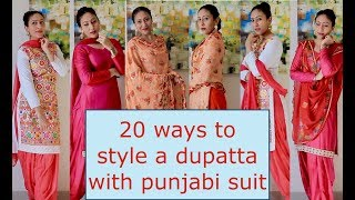 20 ways to style a dupatta with punjabi suit!!
