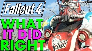 What Fallout 4 did Right, Well and Why Fallout 4 is Good PumaThoughts