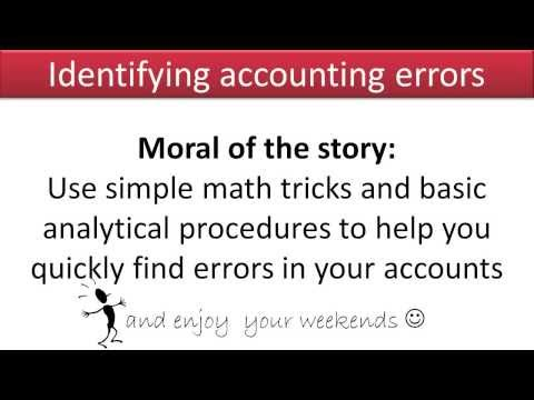 Identifying Accounting Errors - Slides 1-10