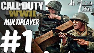 Call of Duty WW2 - Multiplayer Gameplay Session Part 1 - First Matches (PS4 PRO)