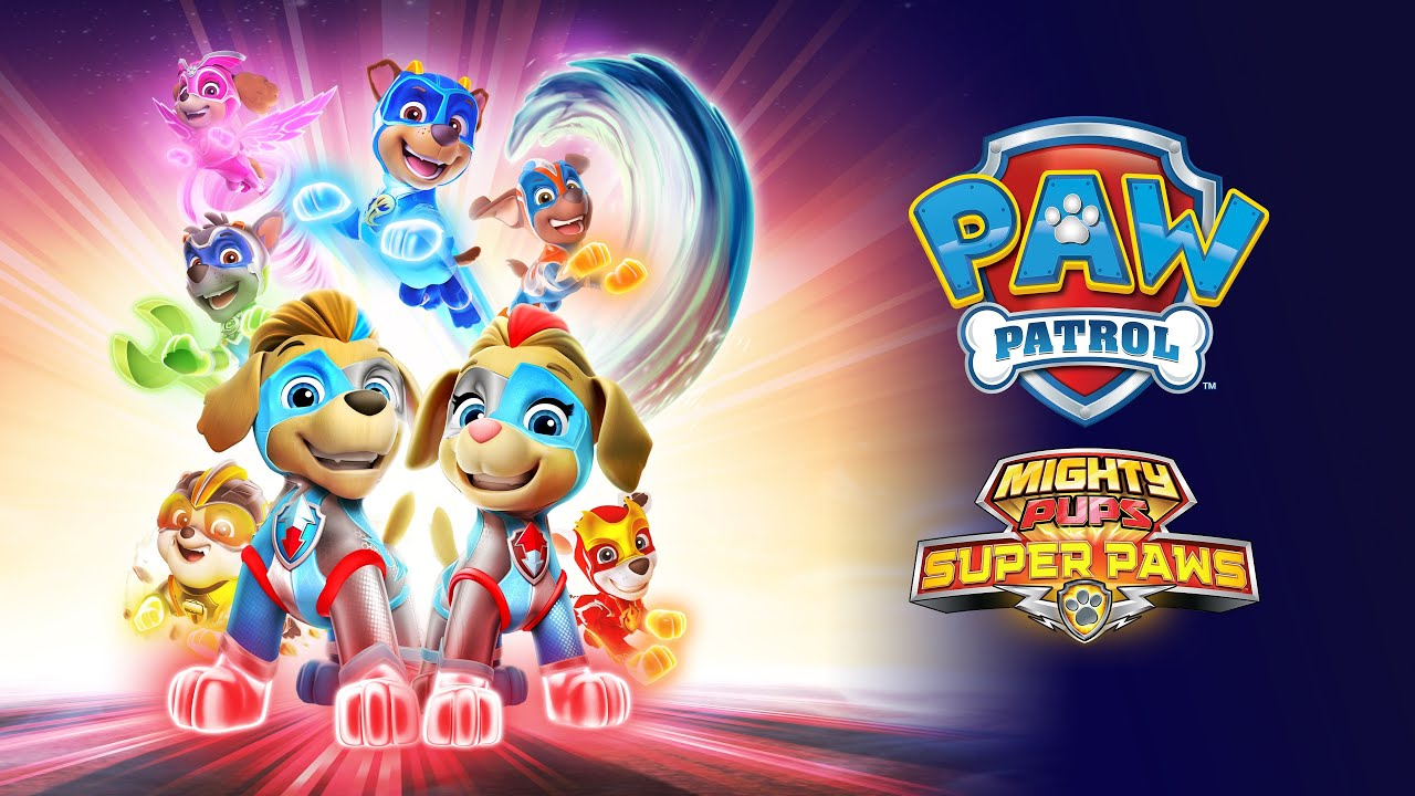From New Series NEW release Nickelodeon Paw Patrol Mighty Pups Mighty Twins!