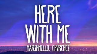 Gambar cover Marshmello, CHVRCHES - Here With Me (Lyrics)