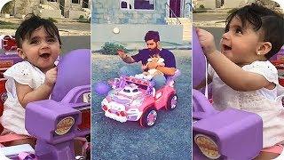 امين يسوق سيارة خلود الصغيرة 😍