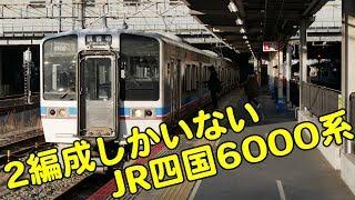 Vol.316 岡山駅に1日2回やってくる!JR四国の2編成しかいない6000系普通列車