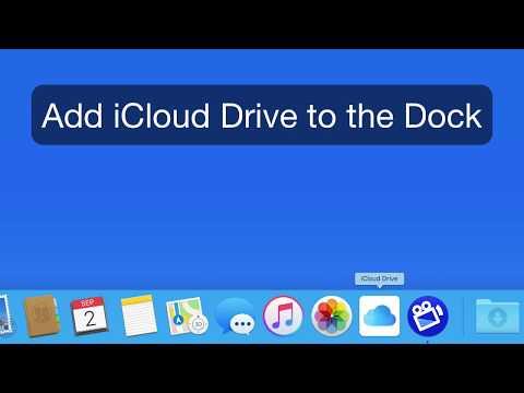 Mac Tutorial: Add iCloud Drive to the Dock