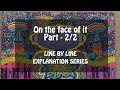 On the face of it Part - 2/2 (Line by Line) in Hindi By Susan Hill, English Class 12 Vistas