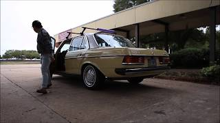 Lowered 1979 Mercedes-Benz W123 240D + ride along