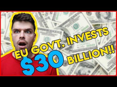 European Government declares $30 billion as blockchain beneficiary