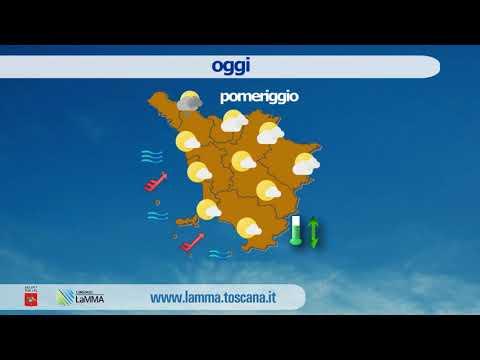 Il meteo di oggi in Toscana - mercoledì 29 Aprile 2020
