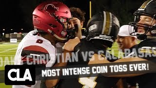 MOST INTENSE COIN TOSS EVER! Oaks Christian vs Calabasas Rivalry Mix 2018: Thibodeaux vs Pittman