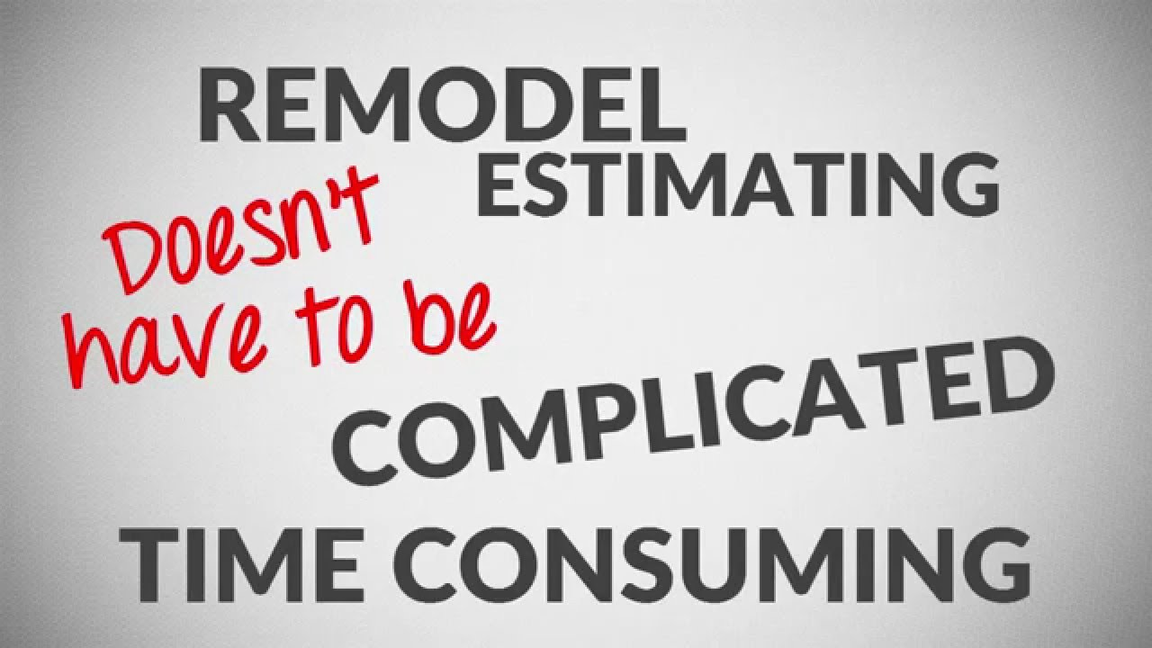 remodel cost estimating spreadsheet software youtube