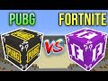 PUBG VS FORTNITE ŞANS BLOKLARI - Minecraft