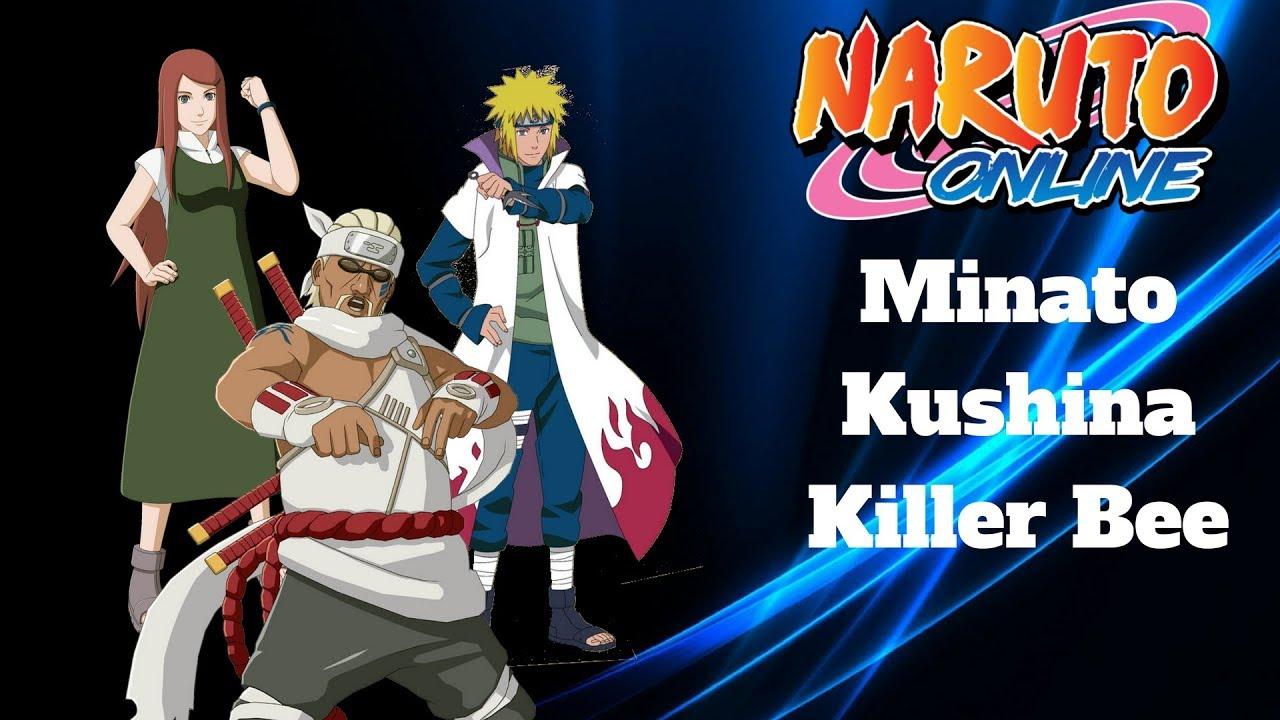 Naruto Online Minato Fourth Hokage Kushina And Killer Bee