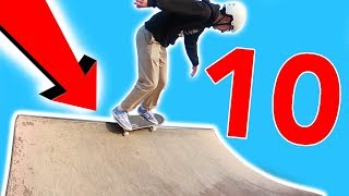 10 Quarter Pipe Tricks You Can Learn in ONE DAY!