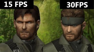 Metal Gear Solid 3 - Vita vs 3DS (FPS Comparison&OverClocking!)