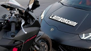 Lamborghini Huracan VS NEW CBR 1000RR FIREBLADE  650 HP AUDI S4  500 HP GOLF R  PART 2