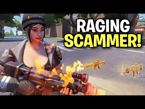 Raging insane scammer loses his 130s? 馃槀 (Scammer Get Scammed) Fortnite Save The World