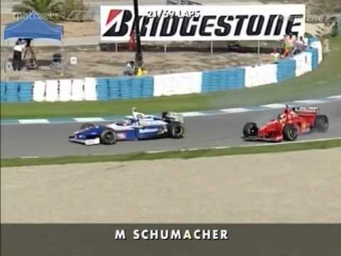 F1 Jerez GP 1997 - Schumacher Villeneuve Collision Premiere/Sky [German Commentary]